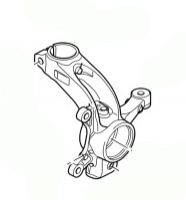 Swivel Pin / Front Hub - Front Left